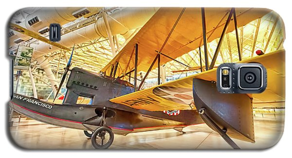 Galaxy S5 Case featuring the photograph Old Army Biplane by Lara Ellis