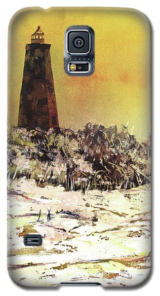 Galaxy S5 Case featuring the painting Old Baldy Lighthouse- North Carolina by Ryan Fox