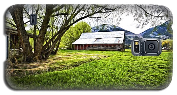 Old Barn In Eden Utah Galaxy S5 Case by James Steele