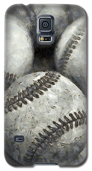 Old Baseballs Pencil Galaxy S5 Case