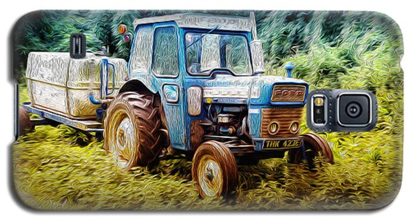 Old Blue Ford Tractor Galaxy S5 Case by John Williams