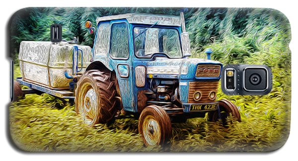 Old Blue Ford Tractor Galaxy S5 Case