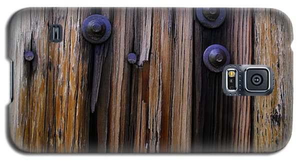 Old Door With Bolts And Nails Galaxy S5 Case