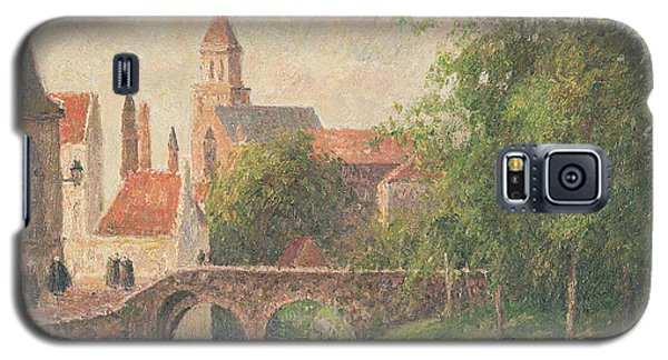 Town Galaxy S5 Case - Old Bridge In Bruges  by Camille Pissarro