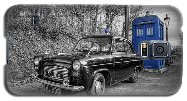 Old British Police Car And Tardis Galaxy S5 Case