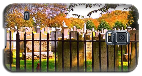 Galaxy S5 Case featuring the photograph Old Cemetary In Newport Rhode Island by Becky Lupe