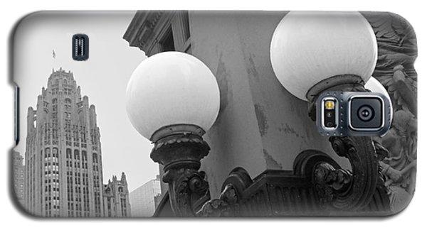 Old Chciago Street Lamps Bw Galaxy S5 Case