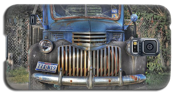 Galaxy S5 Case featuring the photograph Old Chevy Truck by Savannah Gibbs