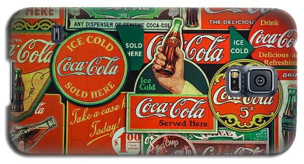 Old Coca-cola Sign Collage Galaxy S5 Case by Mitch Shindelbower