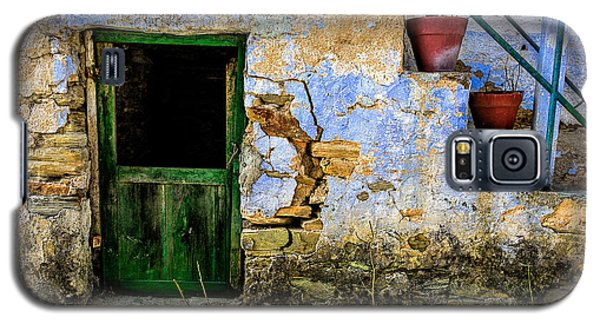 Old Door In Portugal Galaxy S5 Case by Marion McCristall
