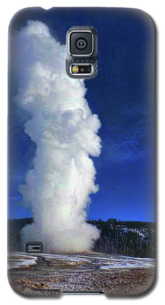 Old Faithful In Winter Galaxy S5 Case