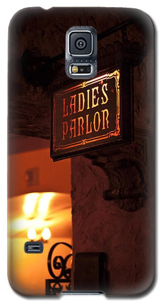 Old Fashioned Ladies Parlor Sign Galaxy S5 Case by Carolyn Marshall