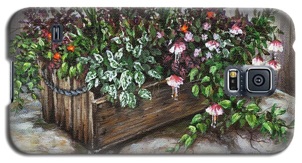 Galaxy S5 Case featuring the painting Old Flower Box by Kim Lockman