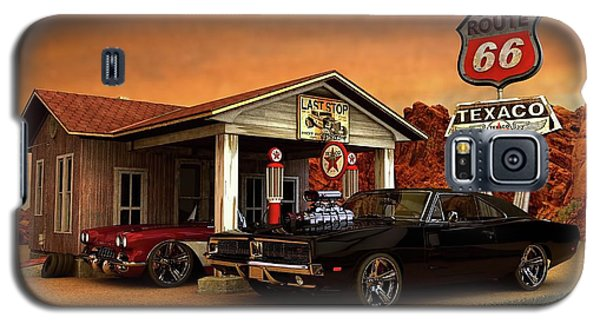 Galaxy S5 Case featuring the photograph Old Gas Station American Muscle by Louis Ferreira