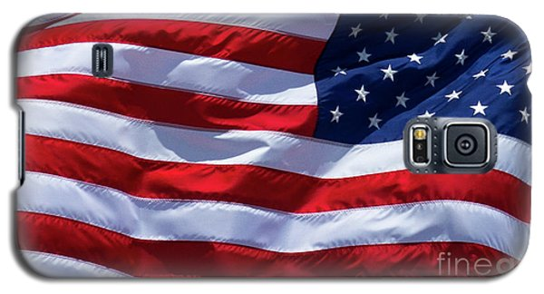 Galaxy S5 Case featuring the photograph Stitches Old Glory American Flag Art by Reid Callaway