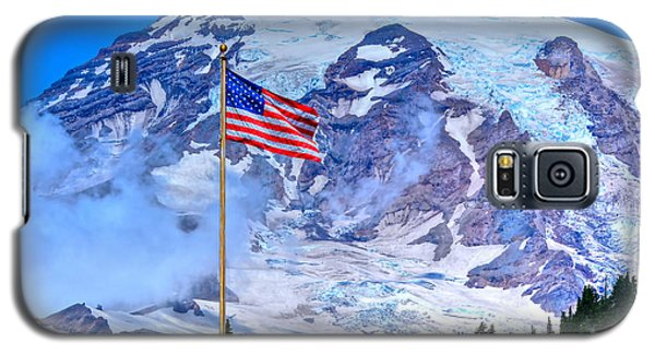 Old Glory At Mt. Rainier Galaxy S5 Case