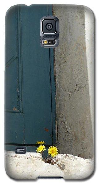 Old Greek Door Galaxy S5 Case by Valerie Ornstein