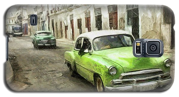 Old Green Car Galaxy S5 Case