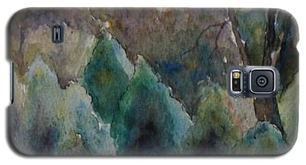 Galaxy S5 Case featuring the painting Old Growth Forest by Patsy Sharpe