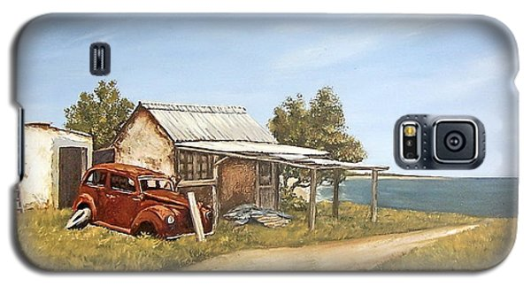 Galaxy S5 Case featuring the painting Old House By The Sea by Natalia Tejera