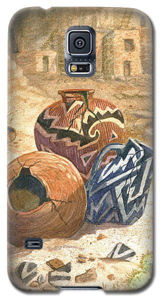 Galaxy S5 Case featuring the painting Old Indian Pottery by Marilyn Smith