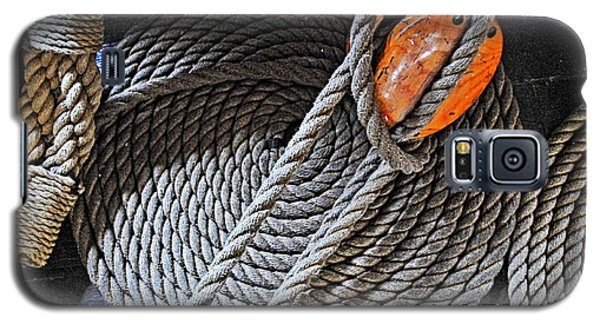 Old Ironsides Rope Galaxy S5 Case by Mike Martin