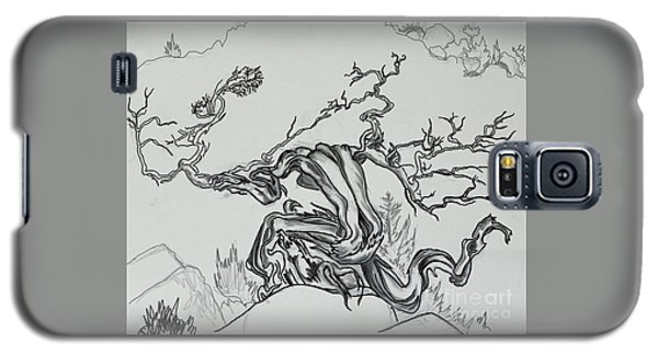 Old Juniper Dancing With The Wind -- Field Sketch Galaxy S5 Case