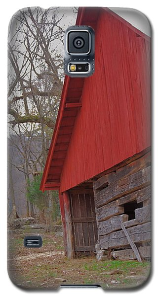 Galaxy S5 Case featuring the photograph Old Log Barn by Debbie Karnes