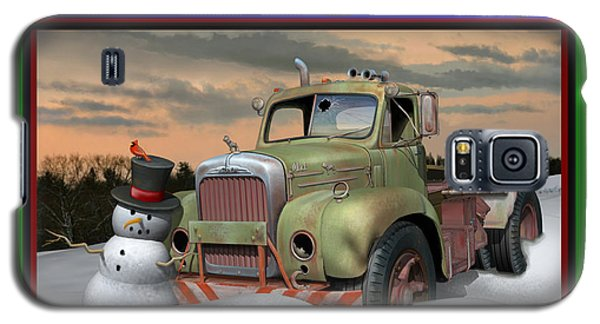 Galaxy S5 Case featuring the digital art Old Mack Christmas Card by Stuart Swartz