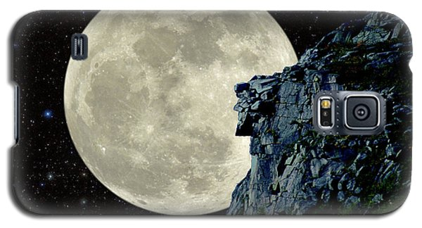 Old Man / Man In The Moon Galaxy S5 Case by Larry Landolfi