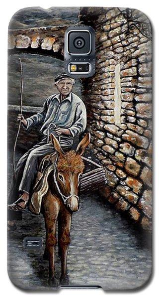 Old Man On A Donkey Galaxy S5 Case
