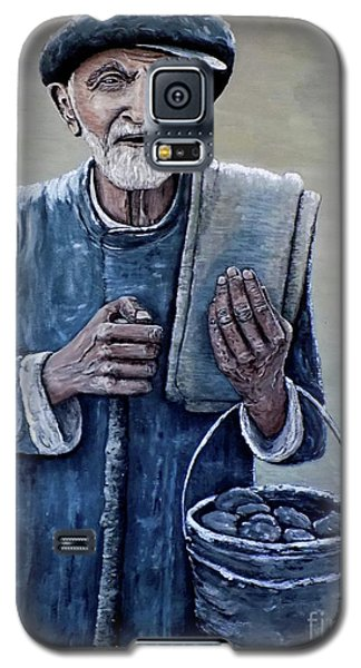 Galaxy S5 Case featuring the painting Old Man With His Stones by Judy Kirouac