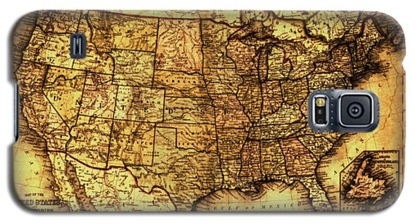 Old Map United States Galaxy S5 Case