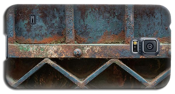Galaxy S5 Case featuring the photograph Old Metal Gate Detail by Elena Elisseeva