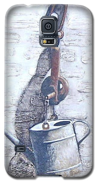 Galaxy S5 Case featuring the painting Old Metal by Natalia Tejera