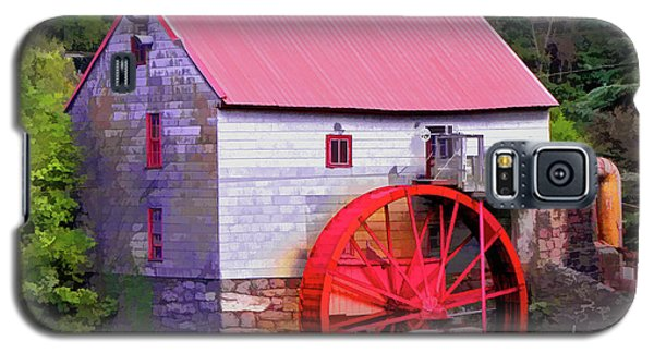 Old Mill Of Guilford Painted Square Galaxy S5 Case by Sandi OReilly