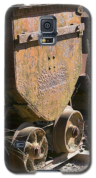 Galaxy S5 Case featuring the photograph Old Mining Car by Phyllis Denton