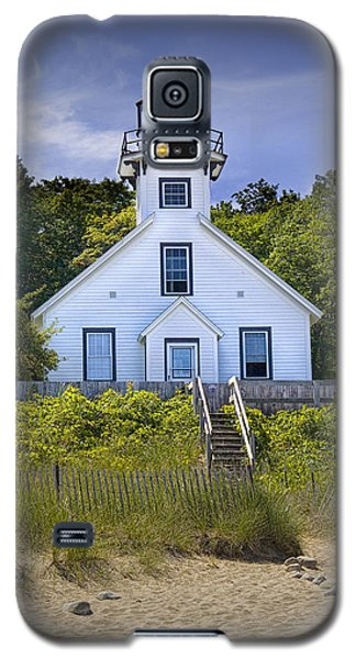 Old Mission Point Lighthouse In Grand Traverse Bay Michigan Number 2 Galaxy S5 Case by Randall Nyhof