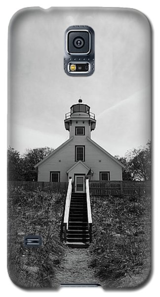 Galaxy S5 Case featuring the photograph Old Mission Point Lighthouse by Joann Copeland-Paul