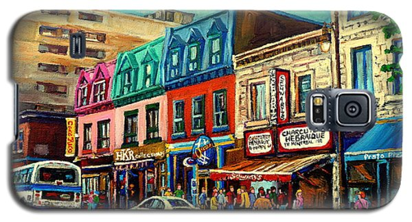 Old Montreal Schwartzs Deli Plateau Montreal City Scenes Galaxy S5 Case