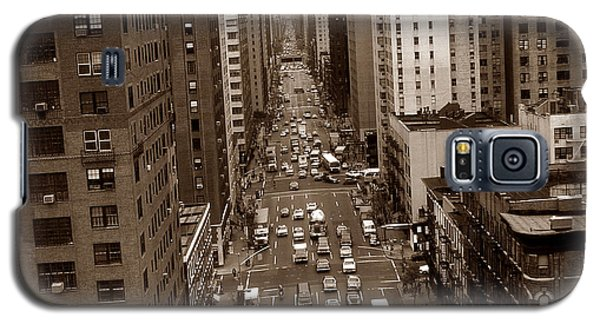 Old New York Photo - 10th Avenue Traffic Galaxy S5 Case