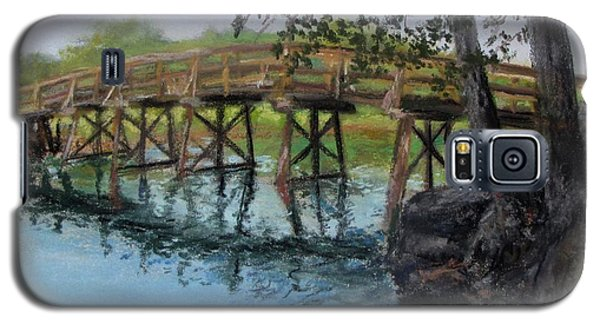 Galaxy S5 Case featuring the painting Old North Bridge In Pastel by Jack Skinner