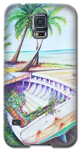 Galaxy S5 Case featuring the painting Old Paint by Patricia Piffath