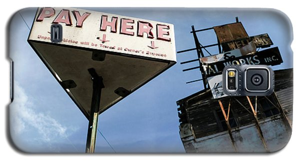 Old Pay Here Parking Sign Vintage Decay Galaxy S5 Case