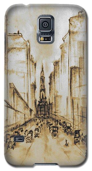 Old Philadelphia City Hall 1920 - Vintage Art Galaxy S5 Case