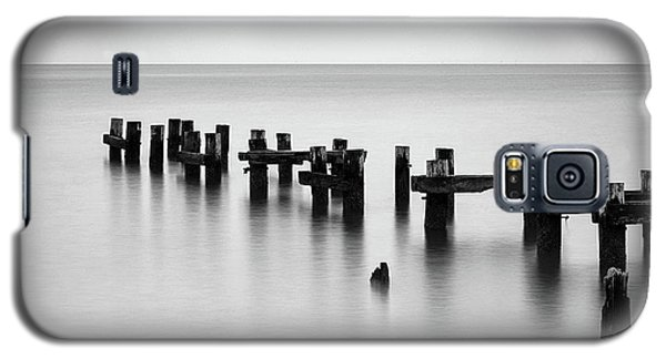 Old Pilings Black And White Galaxy S5 Case