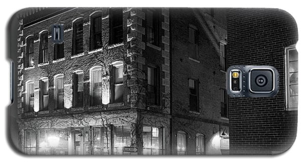 Galaxy S5 Case featuring the photograph Old Port, Portland, Maine  #69480-69482-bw by John Bald