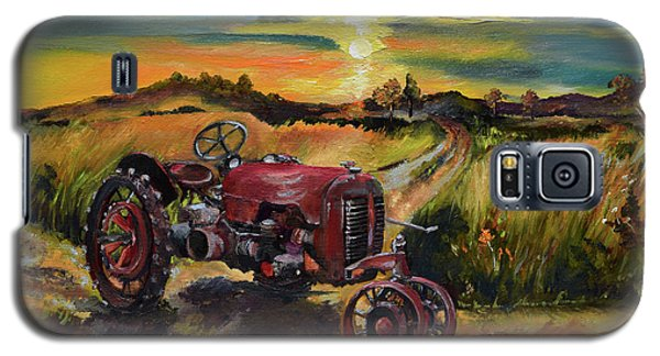 Old Red At Sunset - Tractor Galaxy S5 Case