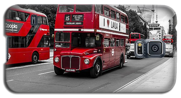 Old Red Bus Bw Galaxy S5 Case
