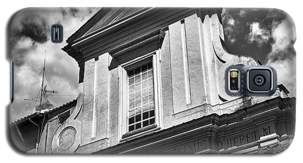 Old Roman Building In Black And White Galaxy S5 Case